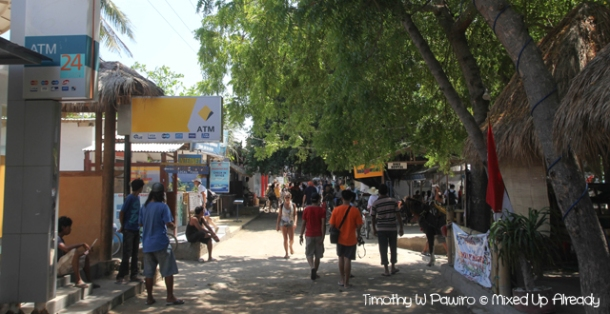 Lombok trip - Gili Trawangan - The street
