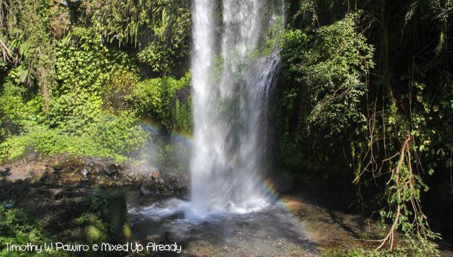 Senaru Lombok trip - Sendang Gile (Sendang Gila) waterfall - Rainbow