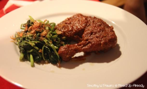 Senggigi - Eating - Grand Corner Restaurant & Bar - Ayam (Chicken) Taliwang