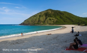 The exotic south beach of Lombok …