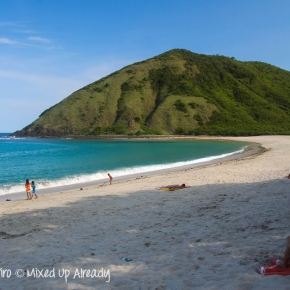 The exotic south beach of Lombok…