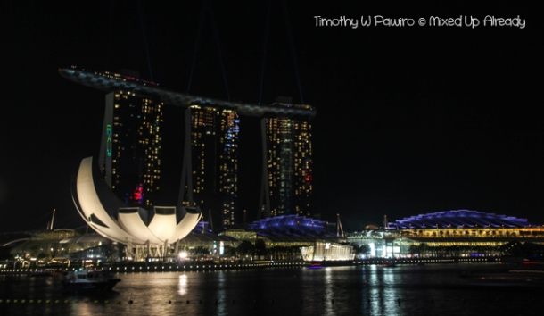 Formula 1 Singapore Grand Prix 2012 - Marina Bay Sands from afar at different timing
