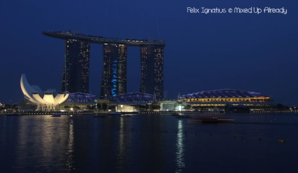 Formula 1 Singapore Grand Prix 2012 - Marina Bay Sands from afar