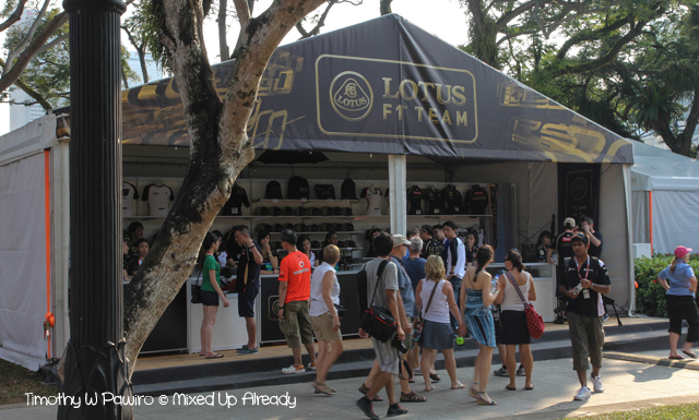 Formula 1 Singapore Grand Prix 2012 - The merchandise tent (Lotus team)