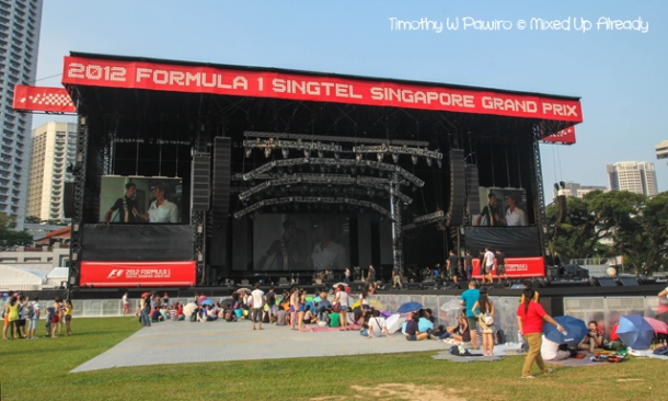 Formula 1 Singapore Grand Prix 2012 - The stage and the Fanzone area