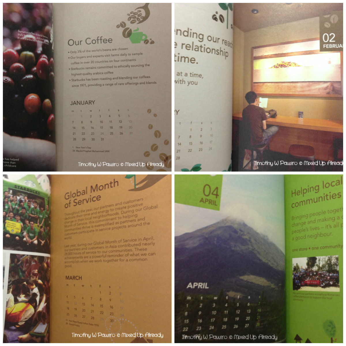 Starbucks Indonesia Planner 2013 (Jan - Apr)