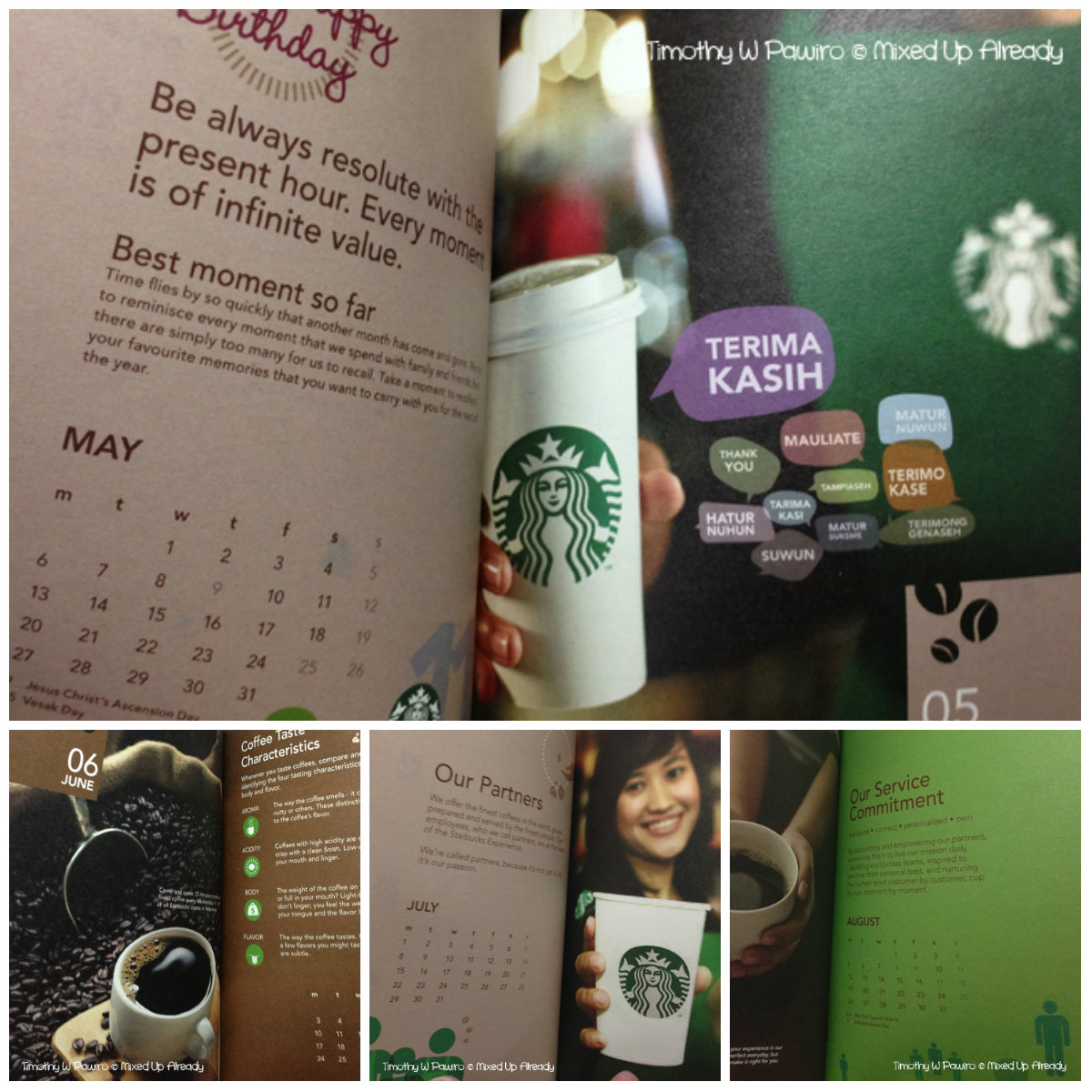 Starbucks Indonesia Planner 2013 (May - Aug)