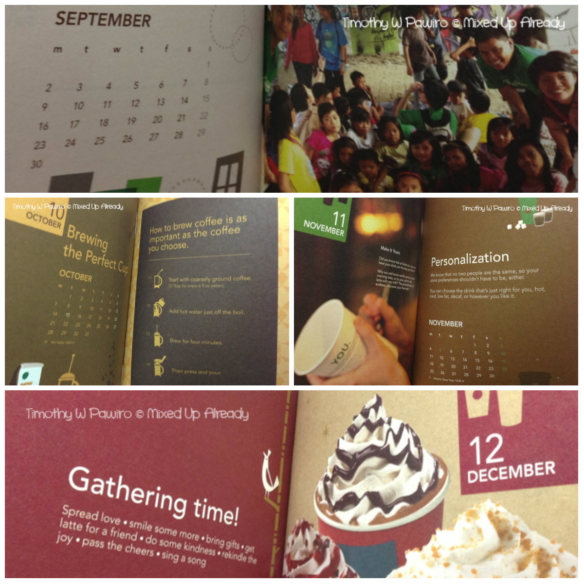 Starbucks Indonesia Planner 2013 (Sep - Dec)