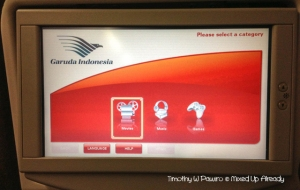 Australia trip - Garuda Indonesia - in flight entertainment