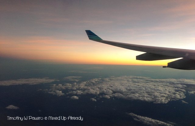 Australia trip - Garuda Indonesia - Sunrise