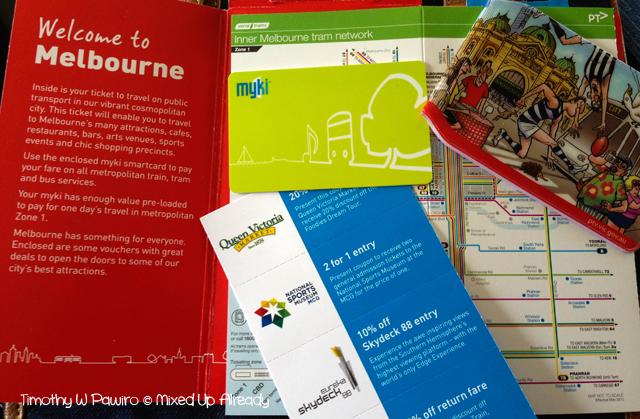 Australia trip - Melbourne - myki Visitor Pack