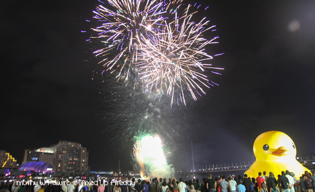 Australia trip - Sydney - Darling Harbour - The fireworks (1)