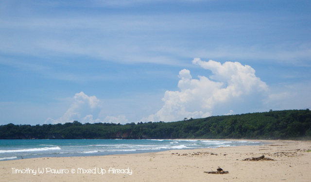 Sawarna (Indonesia) trip - Ciantir beach (Pantai) - The beach (1)