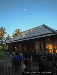 Sawarna (Indonesia) trip - The guest house under the moon