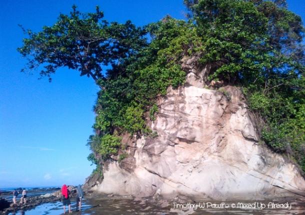 Sawarna (Indonesia) trip - The karst hill between Lagoon Pari and Tanjung Layar