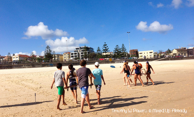 Australia trip - Sydney - Bondi - Surf Lifesaving training
