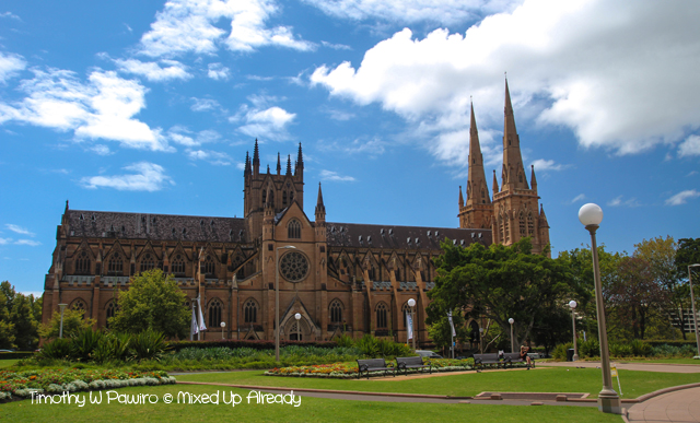 Australia trip - Sydney - Walking Tour - Hyde Park - St. Mary's Cathedral