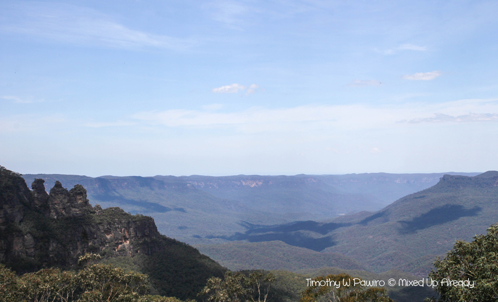 Australia trip - New South Wales - Blue Mountains National Park - Katoomba Scenic World - Jamison Valley - The Three Sisters