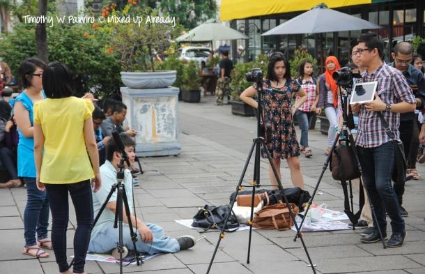 Indonesia - Jakarta - Kota Tua - Taman Fatahillah - TV shooting