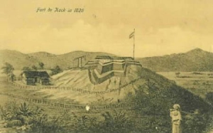 Indonesia - Sumatera - Bukittinggi - Fort de Kock in 1825 (Photo credit - Wikipedia)