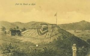 Indonesia - Sumatera - Bukittinggi - Fort de Kock in 1825 (Photo credit - Wikipedia)